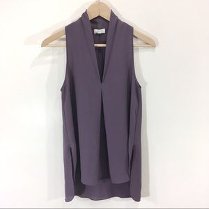 Wilfred Nuit Blouse Plum Sleeveless Blouse Small